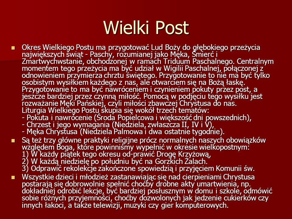 Wielki Post….