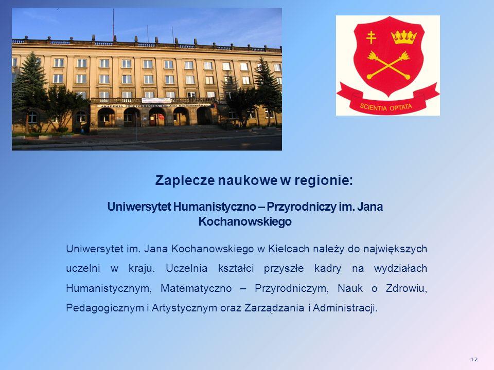 Uniwersytet Humanistyczno – Przyrodniczy im.Jana Kochanowskiego Uniwersytet im.