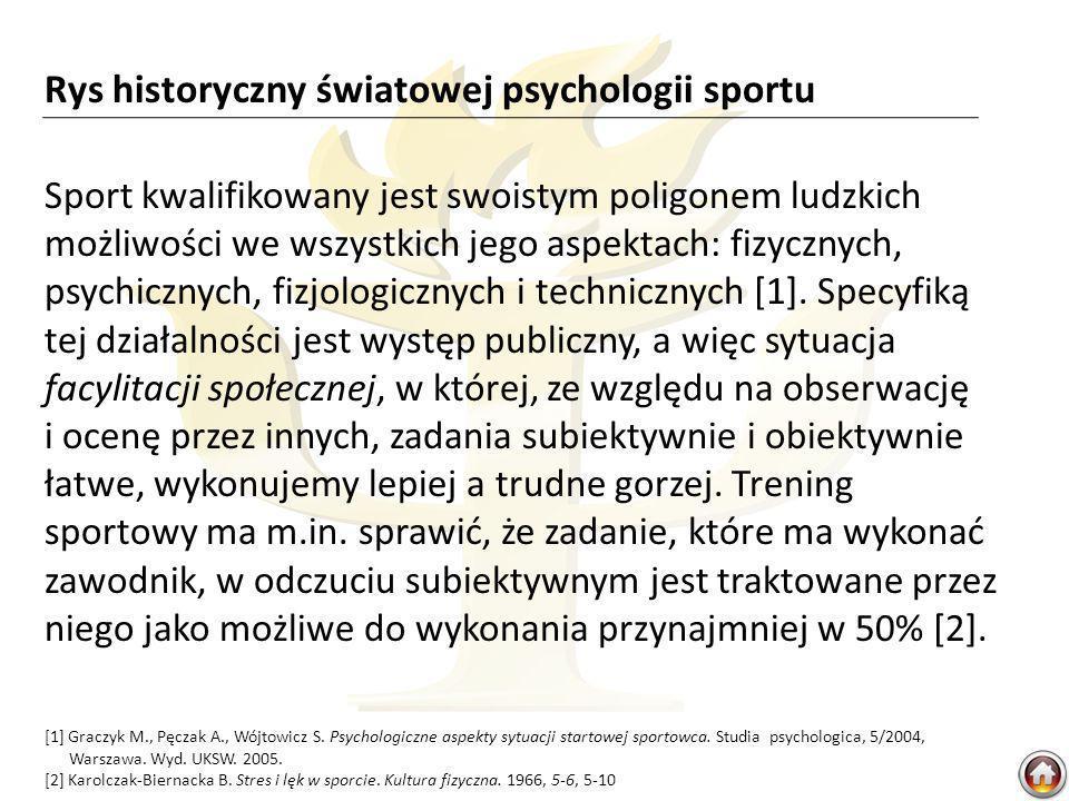 Sport kwalifikowany jest swoistym poligonem ludzkich możliwości we wszystkich jego aspektach: fizycznych, psychicznych, fizjologicznych i technicznych