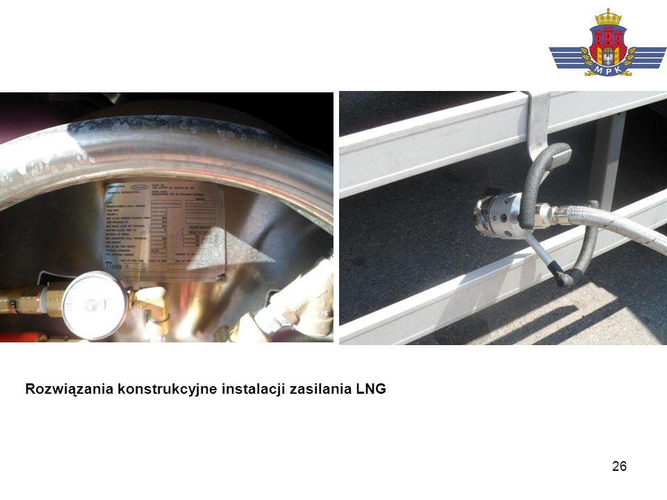 26 Rozwiązania konstrukcyjne instalacji zasilania LNG
