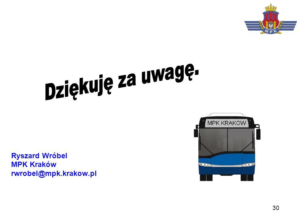 30 Ryszard Wróbel MPK Kraków rwrobel@mpk.krakow.pl