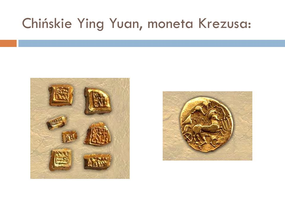 Chińskie Ying Yuan, moneta Krezusa: