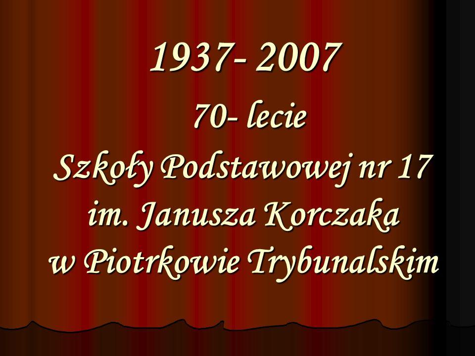 1937 utworzenie Szkoły Specjalnej w Piotrkowie Trybunalskim p.