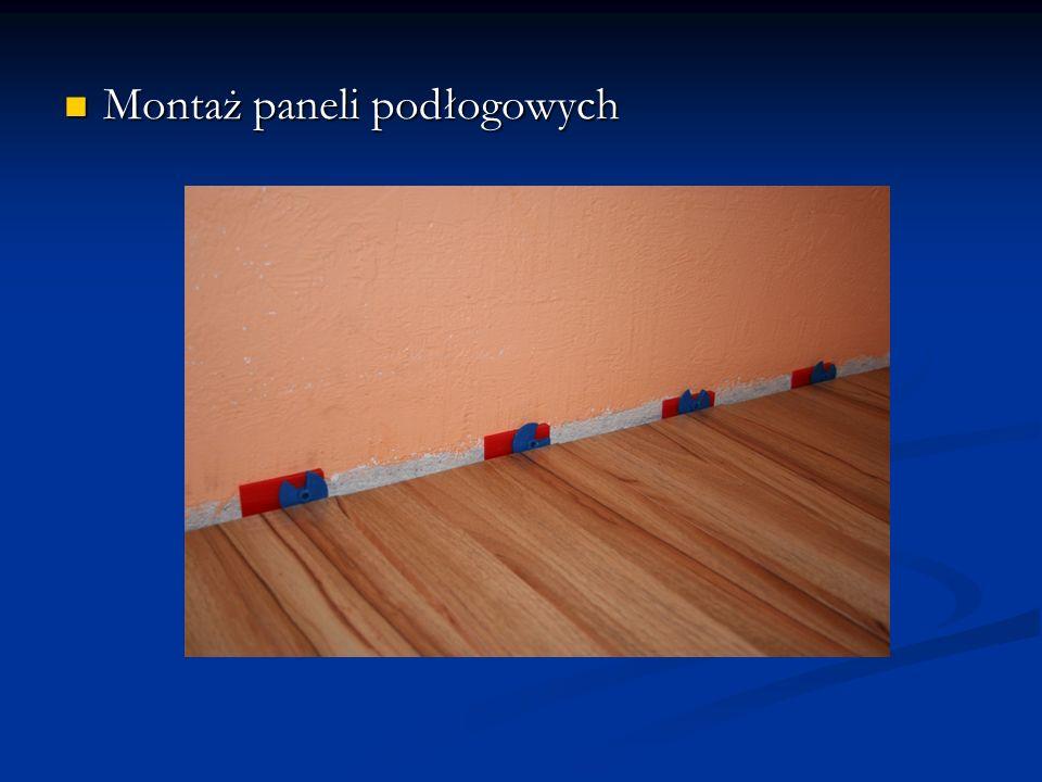Montaż paneli podłogowych Montaż paneli podłogowych