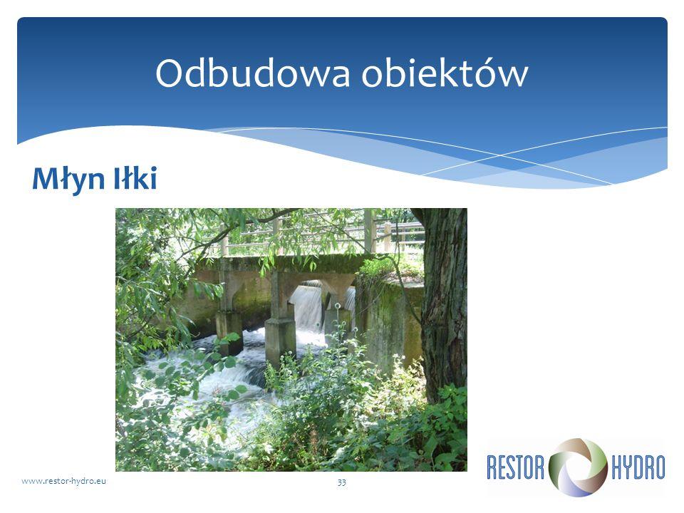 Młyn Iłki www.restor-hydro.eu33 Odbudowa obiektów