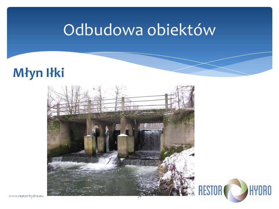 Młyn Iłki www.restor-hydro.eu34 Odbudowa obiektów