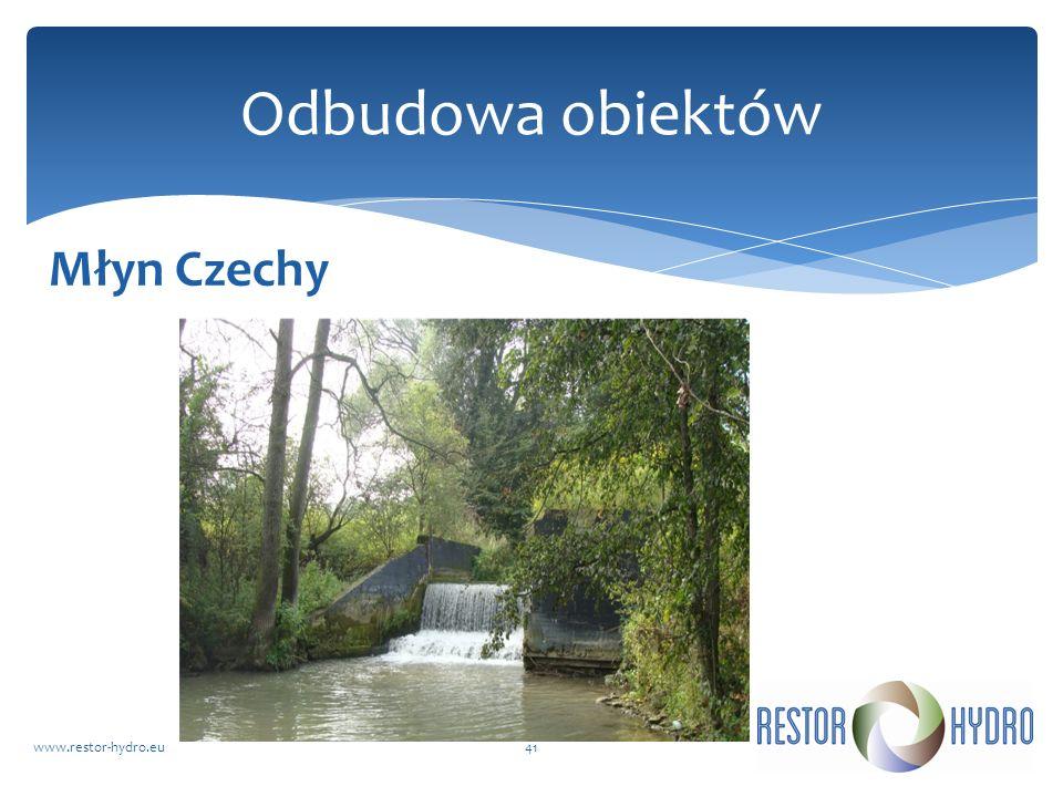 Młyn Czechy www.restor-hydro.eu41 Odbudowa obiektów