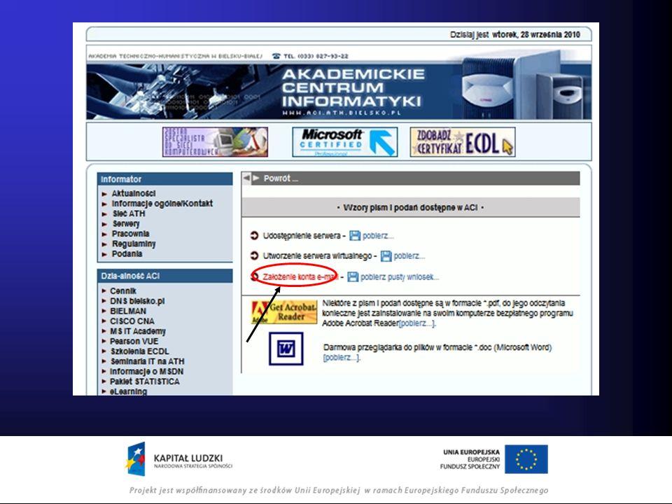 Po wypełnieniu formularza należy kliknąć wyślij a następnie wydrukować formularz, podpisać i dostarczyć do sekretariatu ACI w budynku A pok.