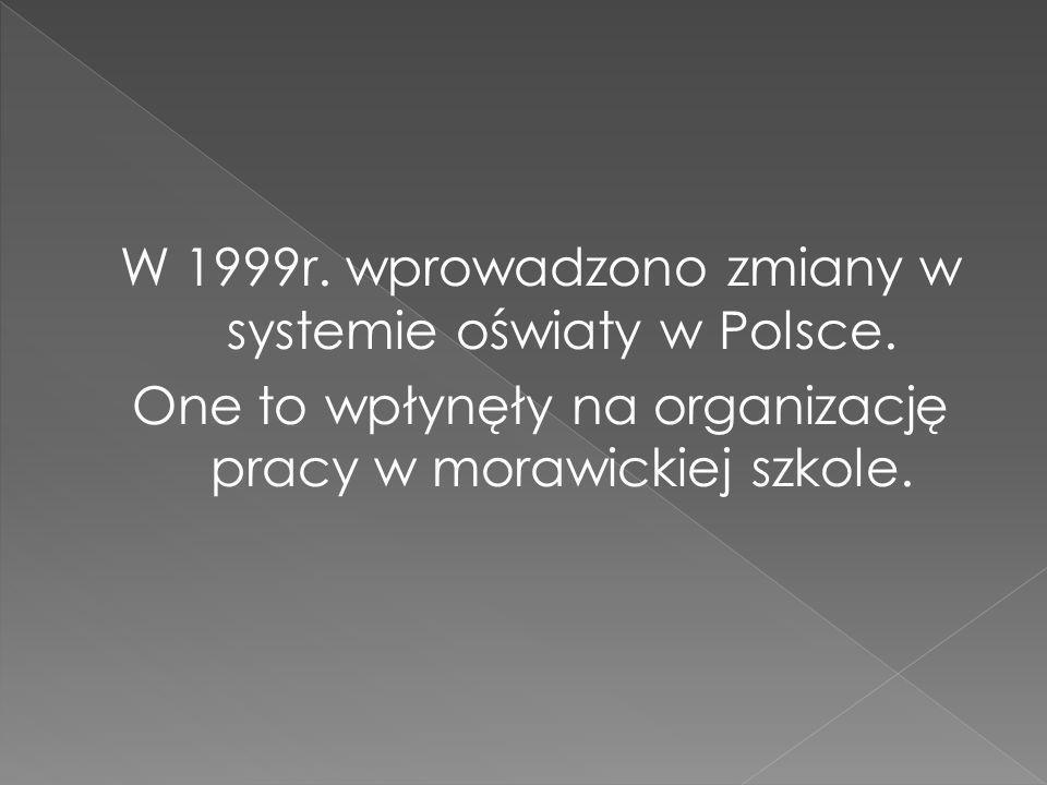 W 1999r.wprowadzono zmiany w systemie oświaty w Polsce.