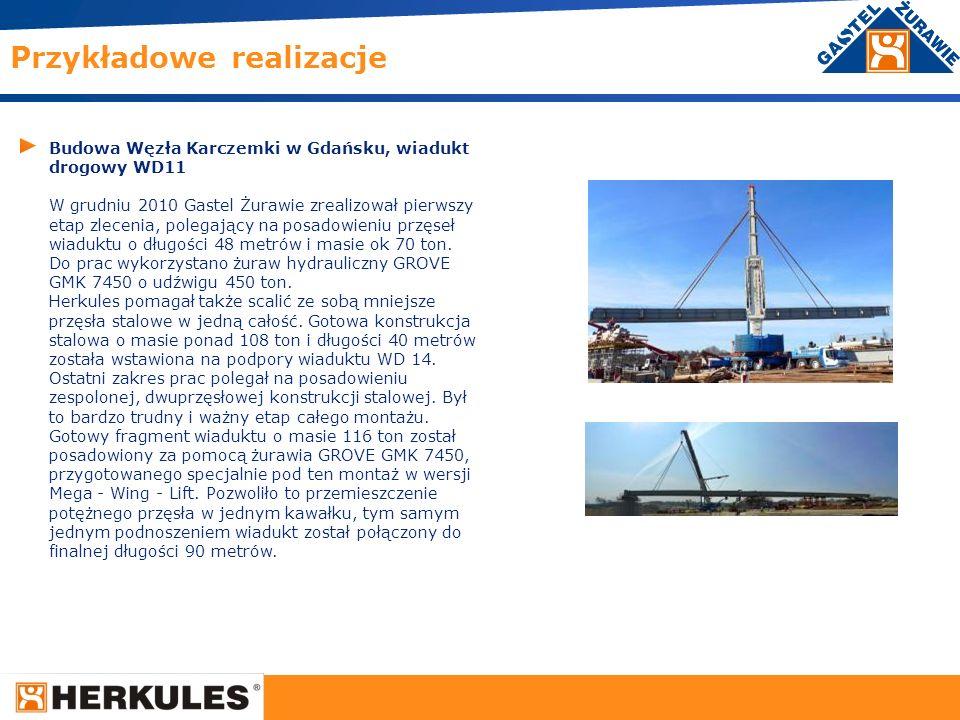 18 Budowa Węzła Karczemki w Gdańsku, wiadukt drogowy WD11 W grudniu 2010 Gastel Żurawie zrealizował pierwszy etap zlecenia, polegający na posadowieniu