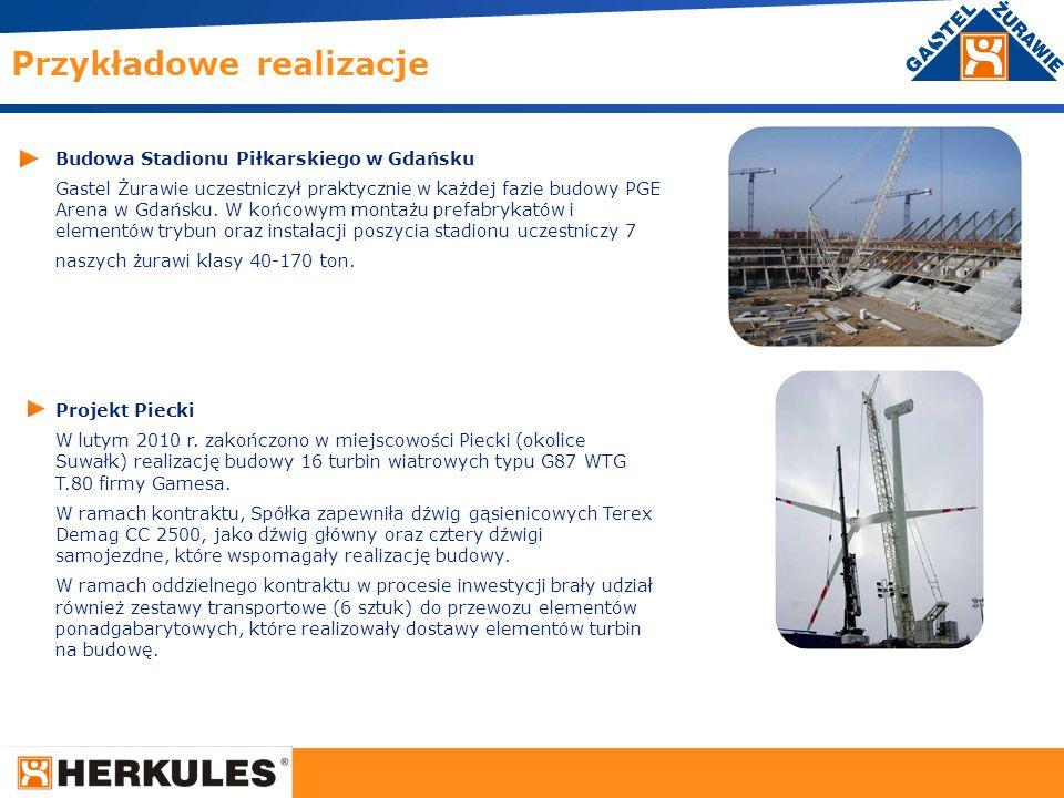 21 Budowa Stadionu Piłkarskiego w Gdańsku Gastel Żurawie uczestniczył praktycznie w każdej fazie budowy PGE Arena w Gdańsku. W końcowym montażu prefab