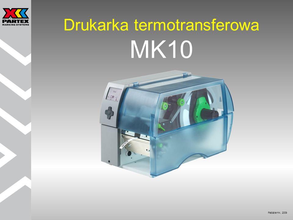 Dane techniczne Nadruk termotransferowy: Rozdzielczość 300 dpi Szybkość druku: Maks.