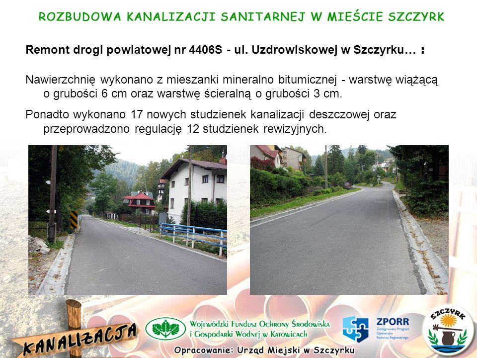 Remont drogi powiatowej nr 4406S - ul.
