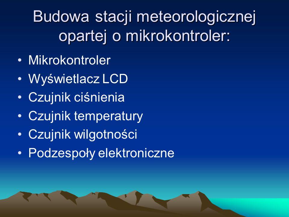 Stacja meteo oparta o mikrokontroler