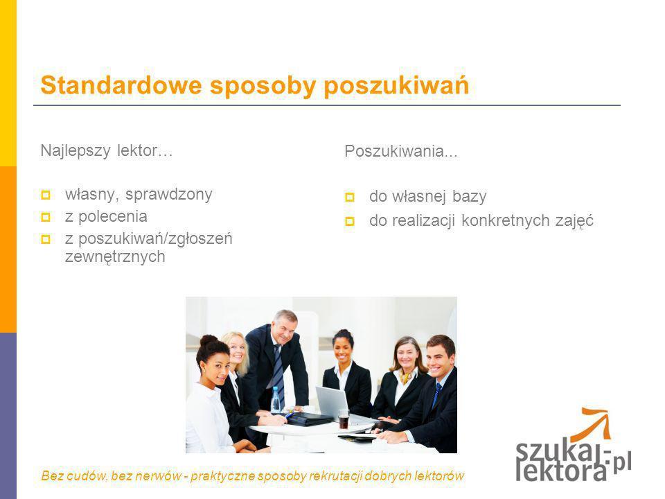 Co zrobić żeby było łatwiej – przydatne usługi dostępne na rynku www.szukaj-lektora.pl to praktyczne narzędzie ukierunkowane na efektywność rekrutacji.