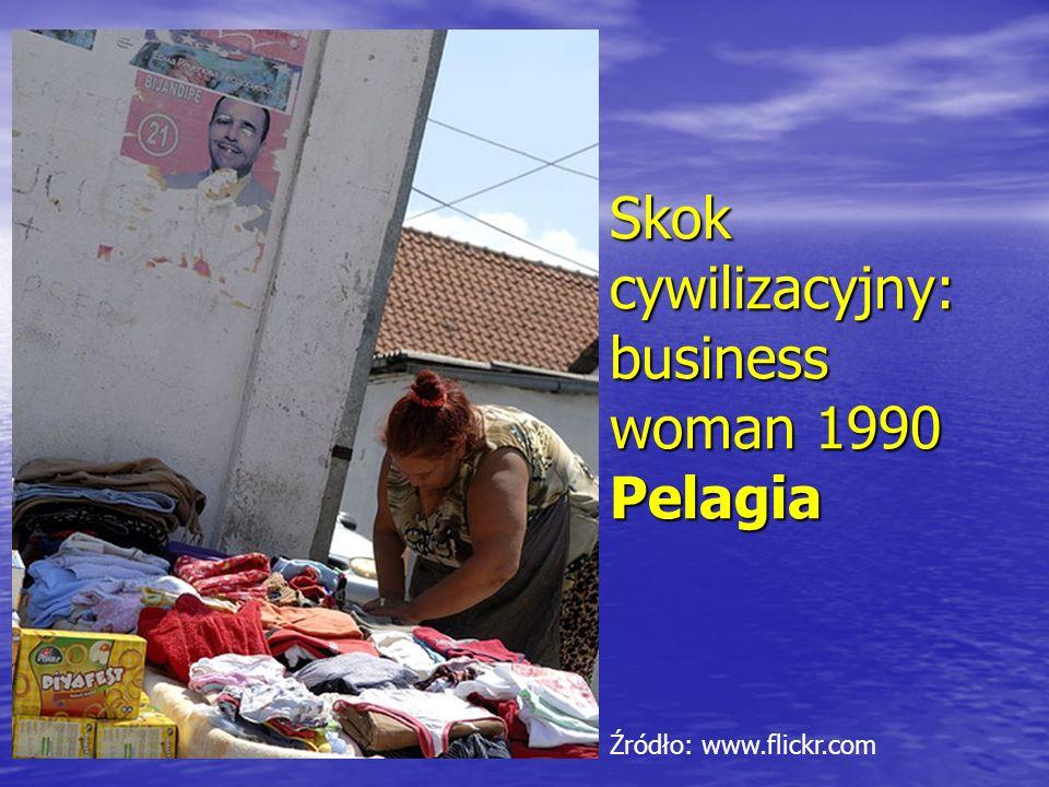 Skok cywilizacyjny: business woman 1990 Pelagia Źródło: www.flickr.com