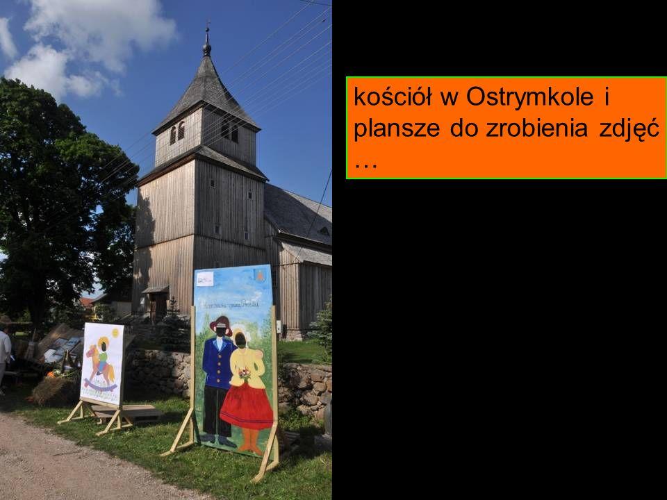 kościół w Ostrymkole i plansze do zrobienia zdjęć …