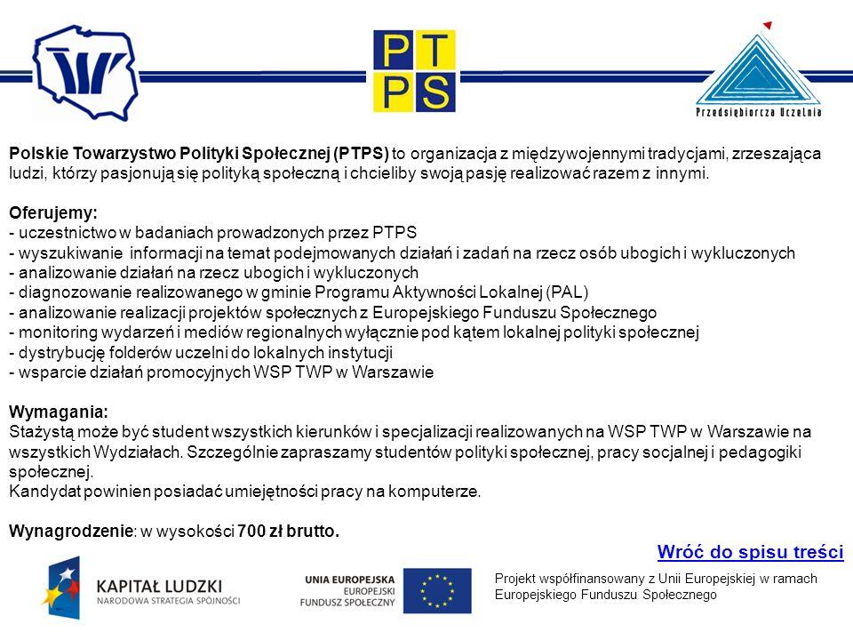 Polskie Towarzystwo Polityki Społecznej (PTPS) to organizacja z międzywojennymi tradycjami, zrzeszająca ludzi, którzy pasjonują się polityką społeczną i chcieliby swoją pasję realizować razem z innymi.
