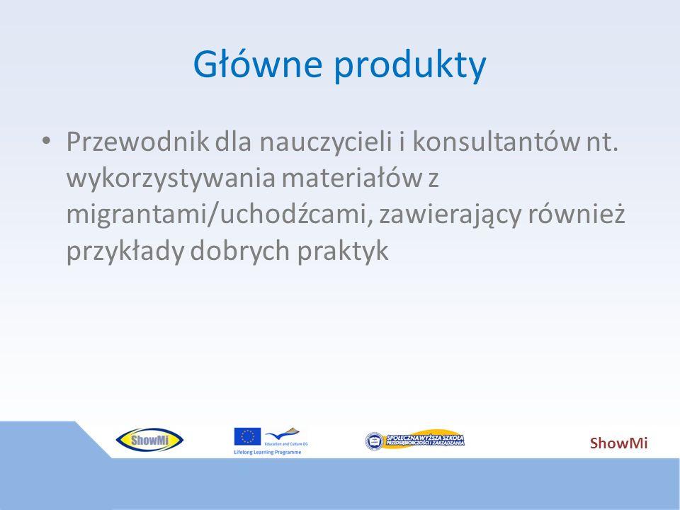 ShowMi Główne produkty Przewodnik dla nauczycieli i konsultantów nt. wykorzystywania materiałów z migrantami/uchodźcami, zawierający również przykłady