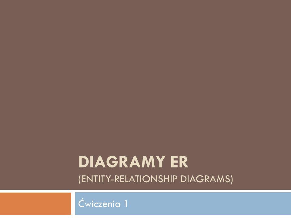 DIAGRAMY ER (ENTITY-RELATIONSHIP DIAGRAMS) Ćwiczenia 1