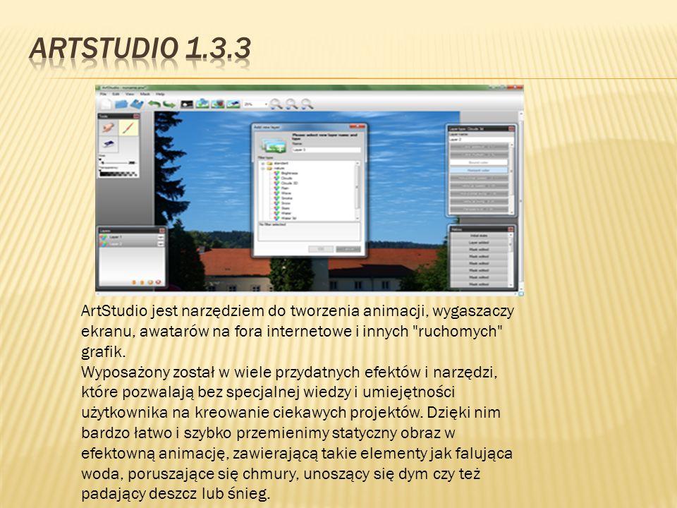ArtStudio jest narzędziem do tworzenia animacji, wygaszaczy ekranu, awatarów na fora internetowe i innych