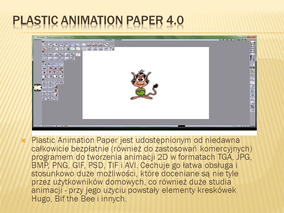 Plastic Animation Paper jest udostępnionym od niedawna całkowicie bezpłatnie (również do zastosowań komercyjnych) programem do tworzenia animacji 2D w