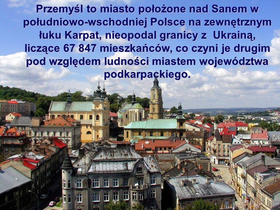 Przemyśl to miasto położone nad Sanem w południowo-wschodniej Polsce na zewnętrznym łuku Karpat, nieopodal granicy z Ukrainą, liczące 67 847 mieszkańc