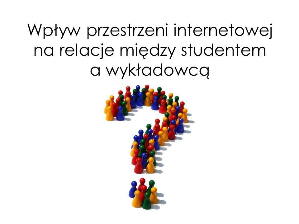 Wpływ przestrzeni internetowej na relacje między studentem a wykładowcą