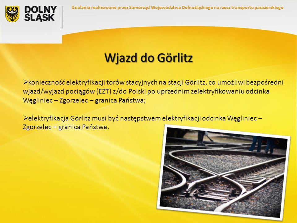 konieczność elektryfikacji torów stacyjnych na stacji Görlitz, co umożliwi bezpośredni wjazd/wyjazd pociągów (EZT) z/do Polski po uprzednim zelektryfi