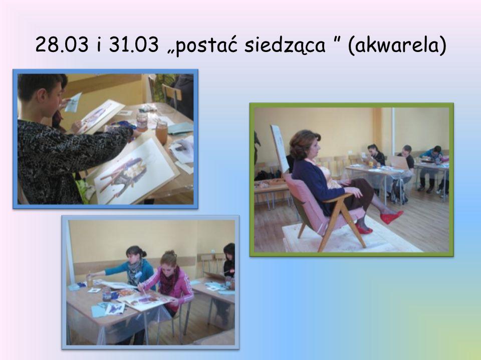 28.03 i 31.03 postać siedząca (akwarela)