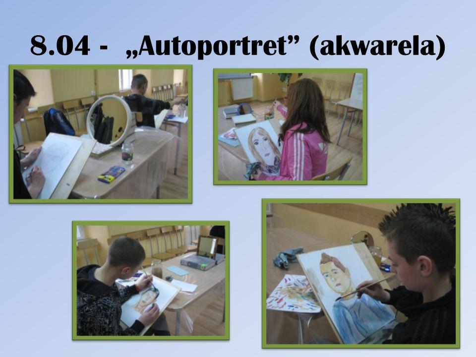 8.04 - Autoportret (akwarela)