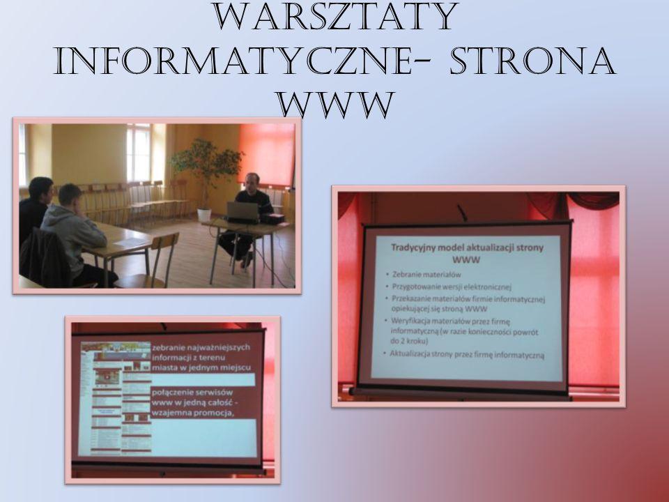 Warsztaty informatyczne- strona www
