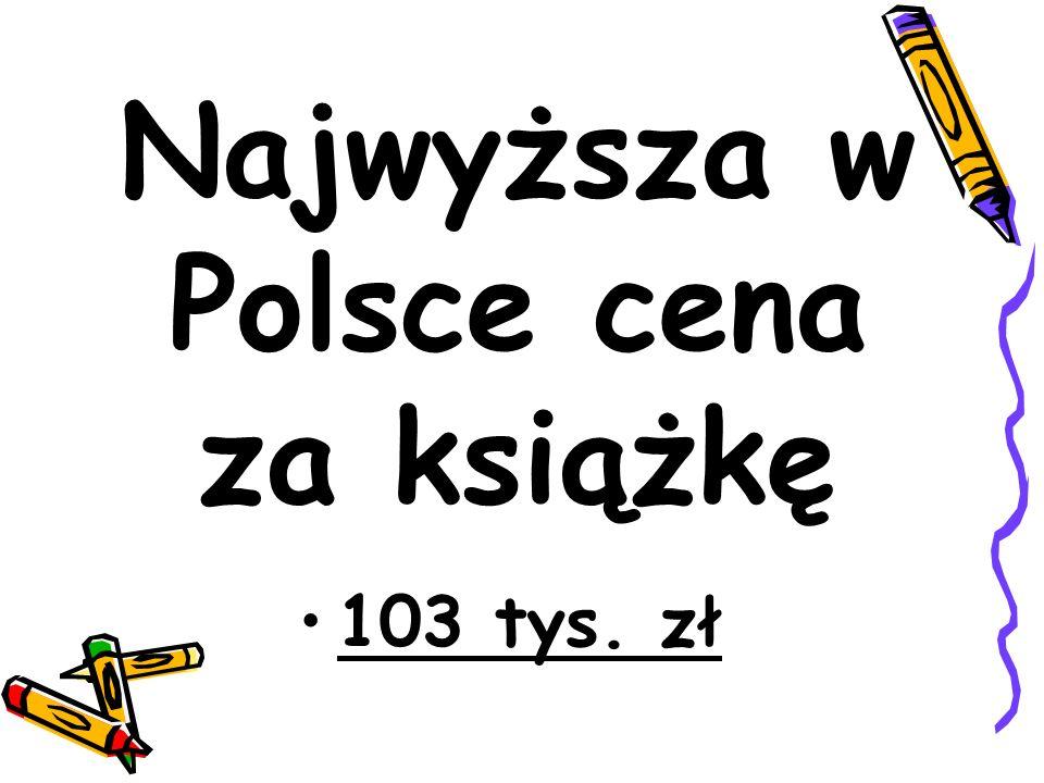 Najwyższa w Polsce cena za książkę 103 tys. zł