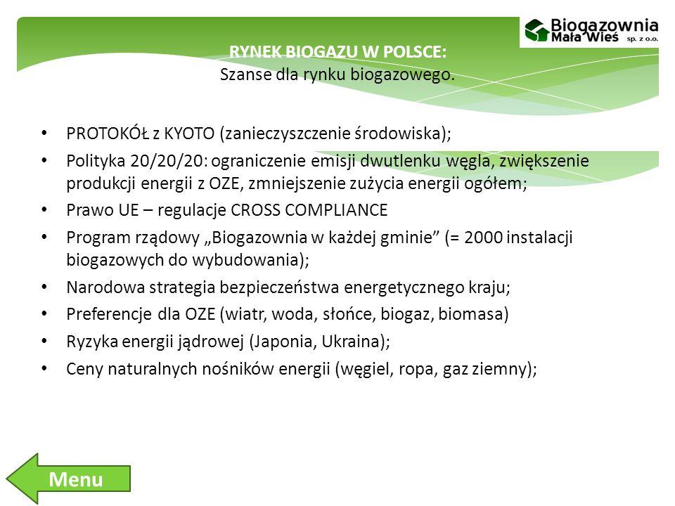 RYNEK BIOGAZU W POLSCE: Szanse dla rynku biogazowego.
