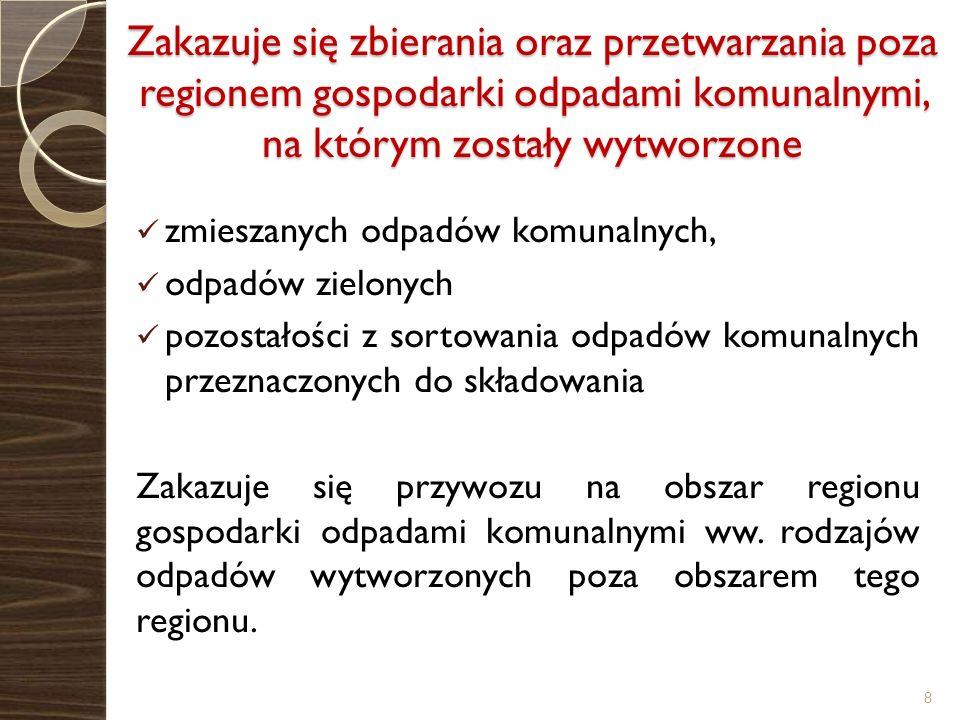Planowane instalacje w Regionie II 1.Eko – Region Sp.