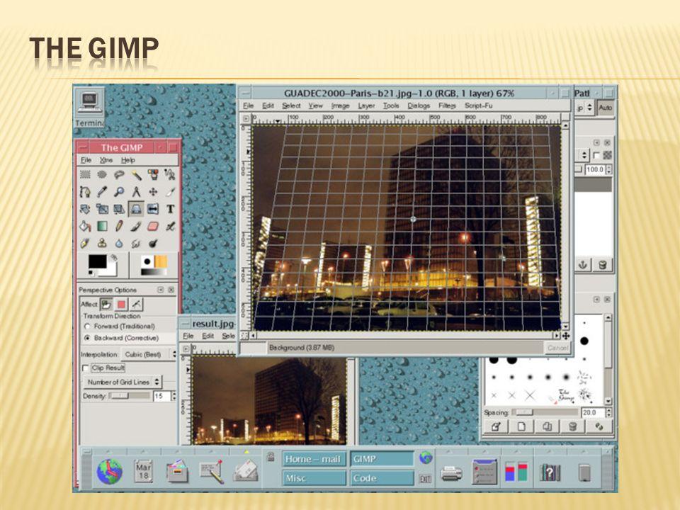 The Gimp to bardzo popularny program na darmowej licencji GNU, stanowiący dobrą alternatywę dla bardzo drogich płatnych edytorów z wyższej półki.