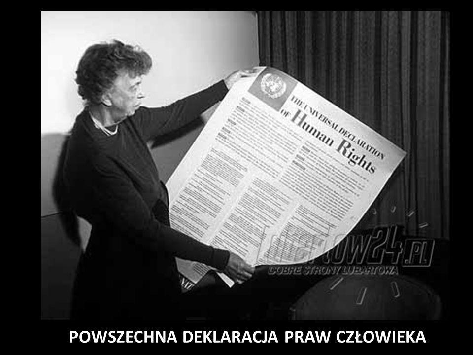 Prawa człowieka zostały uznane za jeden z priorytetów społeczności międzynarodowej 10 grudnia 1948 roku przyjęto Powszechną Deklarację Praw Człowieka Jej uchwalenie okazało się konieczne, kiedy zbrodnie nazistowskich Niemiec wyszły na jaw POWSZECHNA DEKLARACJA PRAW CZŁOWIEKA