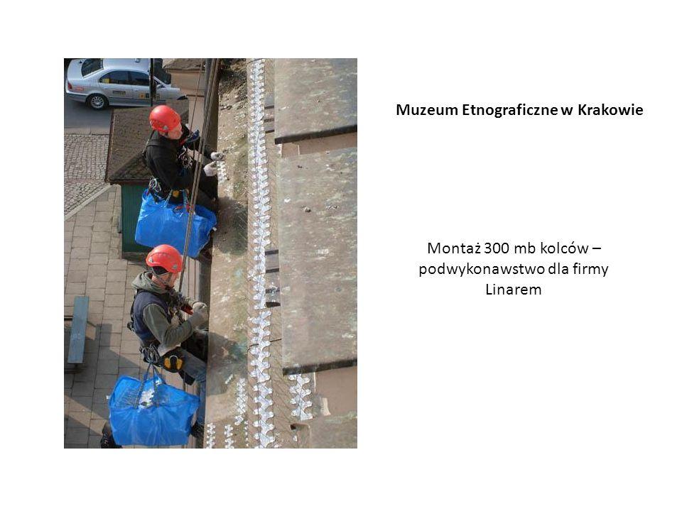 Muzeum Etnograficzne w Krakowie Montaż 300 mb kolców – podwykonawstwo dla firmy Linarem