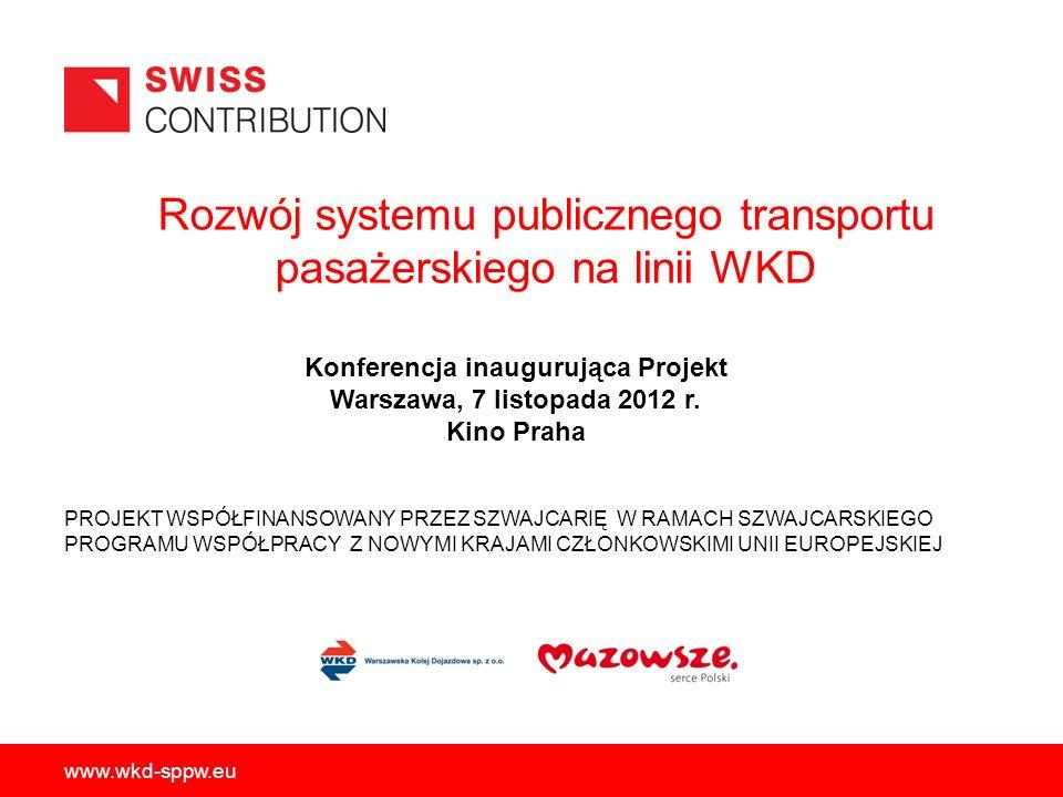 www.wkd-sppw.eu 22/33 Społeczno-gospodarcze cele jakościowe: - Poprawa dostępności taboru dla podróżnych - Poprawa komfortu podróżowania - Poprawa bezpieczeństwa ruchu - Lepsze wykorzystanie przepustowości linii - Osiągnięcie atrakcyjniejszej częstotliwości kursowania pociągów - Poprawa dostępności i konkurencyjności obszarów zlokalizowanych na trasie WKD - Zahamowanie spadku liczby korzystających z infrastruktury kolejowej - Ograniczenie poziomu obciążenia dróg - Oszczędności związane z mniejszym zanieczyszczeniem środowiska Społeczno-gospodarcze cele ilościowe: - Skrócenie czasu przejazdu poprzez podniesienie parametrów trakcyjnych pojazdów w zakresie - Skrócenie czasu przejazdu poprzez podniesienie parametrów trakcyjnych pojazdów w zakresie przyspieszenia i opóźnienia hamowania (maksymalnie od 57 do 50 minut na całej trasie) przyspieszenia i opóźnienia hamowania (maksymalnie od 57 do 50 minut na całej trasie) - Uruchomienie maksymalnie do 5 dodatkowych obiegów taboru, tj.