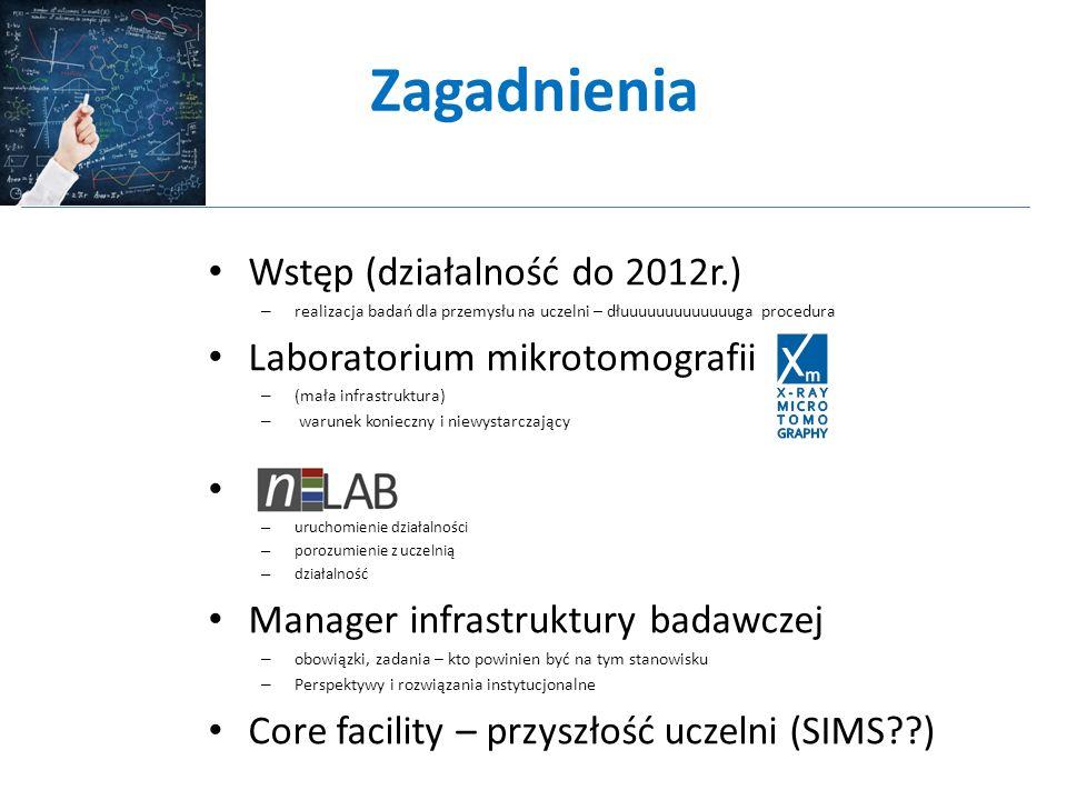 Od prototypu do rozwiązania systemowego Laboratorium mikrotomografii Umowa o współpracy Zleceniodawcy - Wydziały - Uczelnie - Przedsiębiorcy - Przemysł - ……..