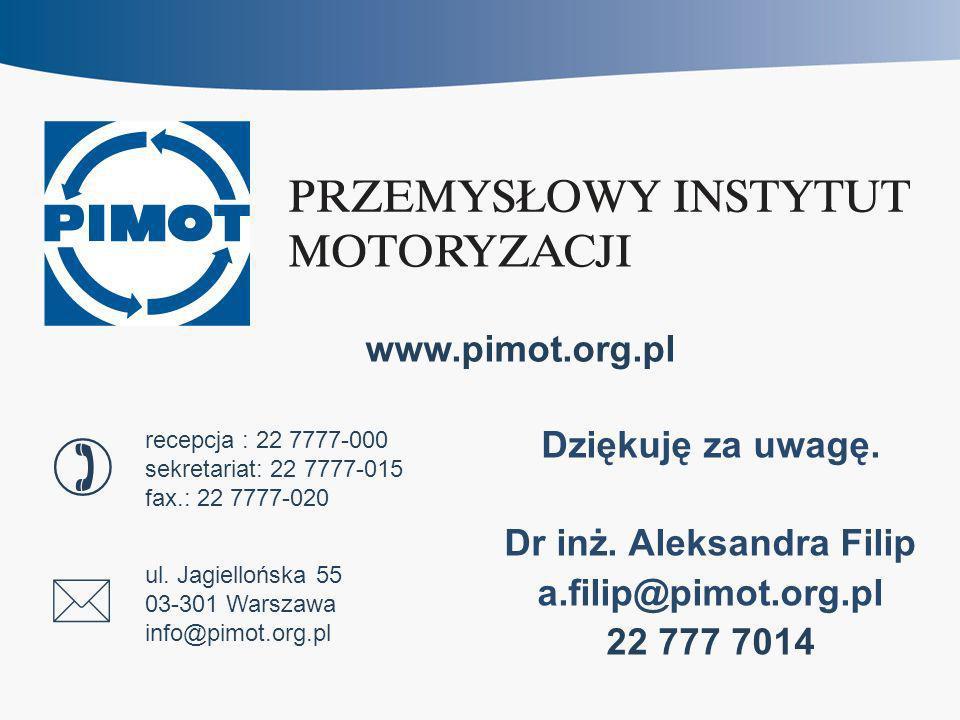 www.pimot.org.pl ul. Jagiellońska 55 03-301 Warszawa info@pimot.org.pl recepcja : 22 7777-000 sekretariat: 22 7777-015 fax.: 22 7777-020 Dziękuję za u