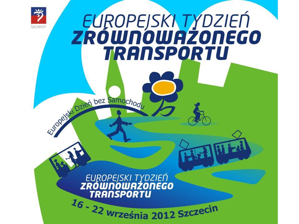 Europejski Tydzień Zrównoważonego Transportu 16-22 września Kampania koordynowana jest przez Ministerstwo Środowiska pod patronatem Komisji Europejskiej Europejski Tydzień Zrównoważonego Transportu 16 - 22 września Europejski Dzień bez Samochodu 22 września Hasło przewodnie – Moving in the right direction