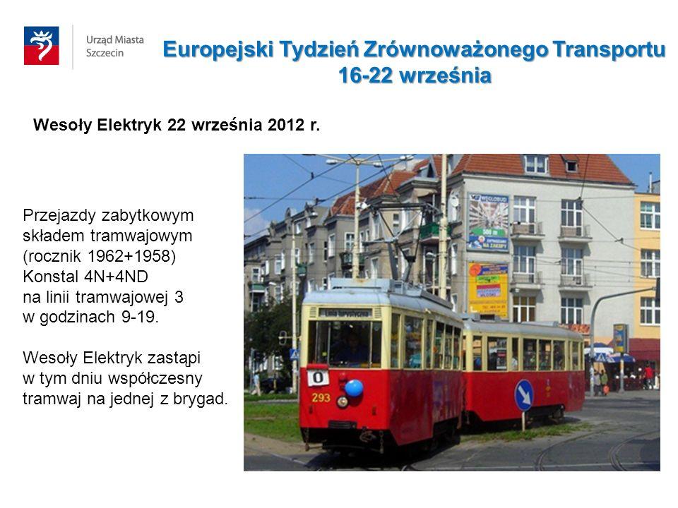Wesoły Elektryk 22 września 2012 r. Przejazdy zabytkowym składem tramwajowym (rocznik 1962+1958) Konstal 4N+4ND na linii tramwajowej 3 w godzinach 9-1