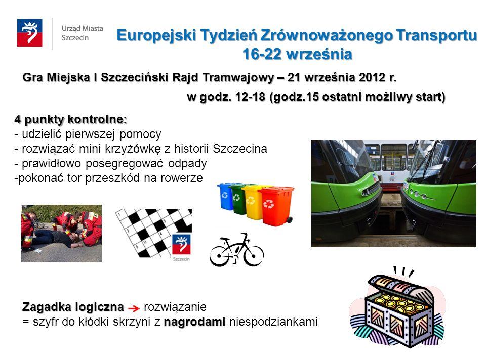 Gra Miejska I Szczeciński Rajd Tramwajowy – 21 września 2012 r.