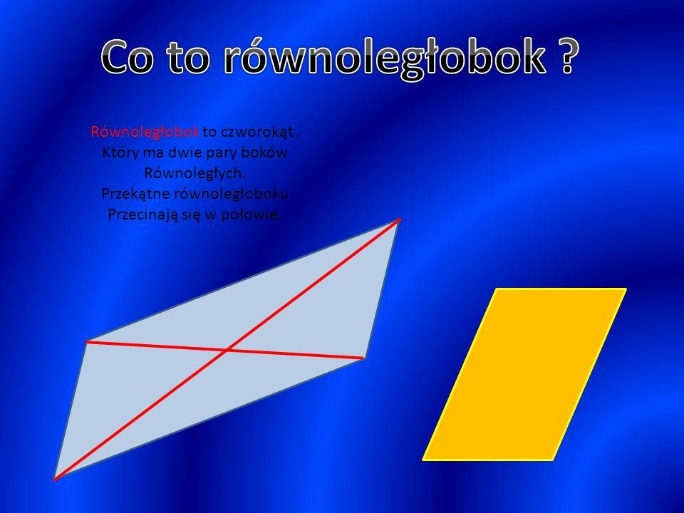 a h P = a x h a – długość boku (podstawy) h – wysokość opuszczona na tę podstawę