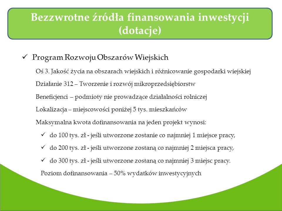 Program Rozwoju Obszarów Wiejskich Oś 3.