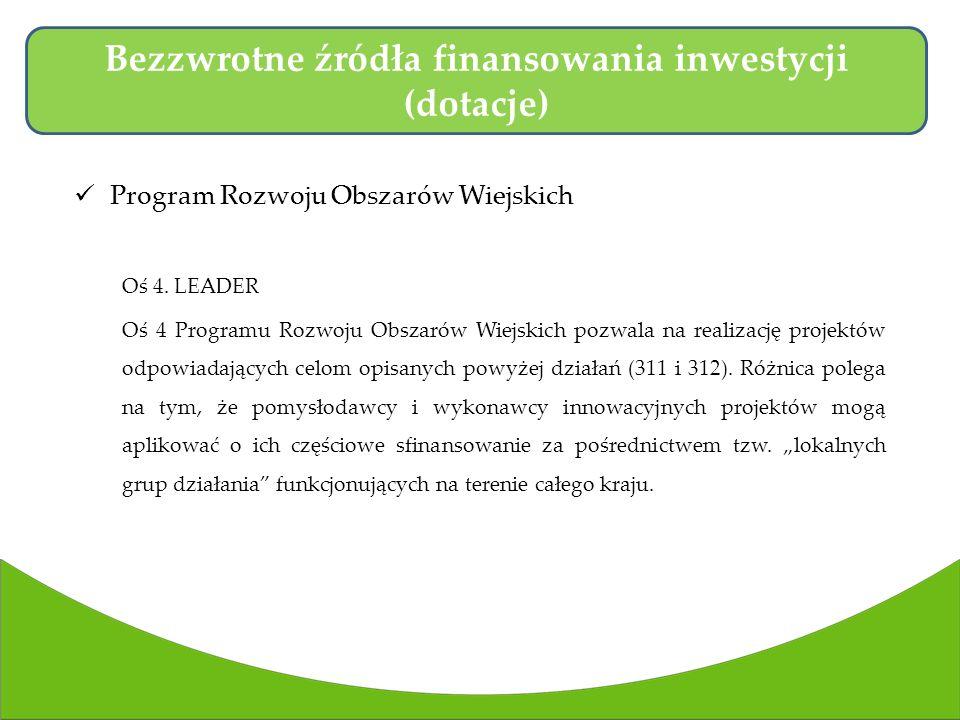 Program Rozwoju Obszarów Wiejskich Oś 4.