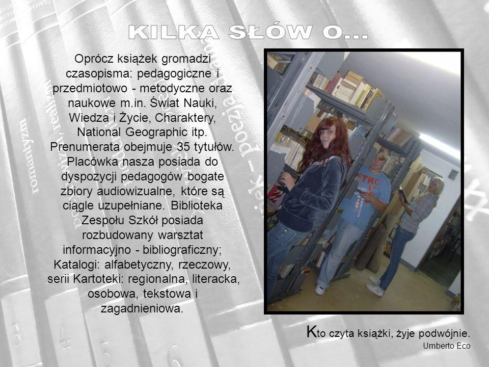 Od 16.09.2011 do 10.10.2011 w bibliotece szkolnej ZS im.