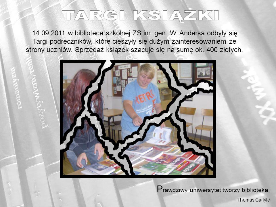 14.09.2011 w bibliotece szkolnej ZS im. gen. W.