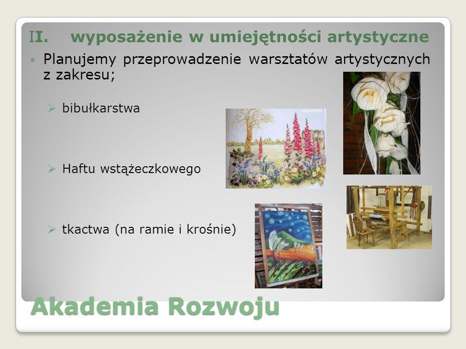 Akademia Rozwoju haftu koralikowego wykonywania artykułów dekoracyjnych (poduszki, obrusy itp.)